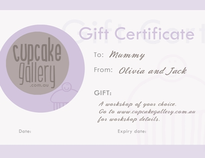 Cake Decorating Gift Certificate : Not into cake decorating but know someone who is?