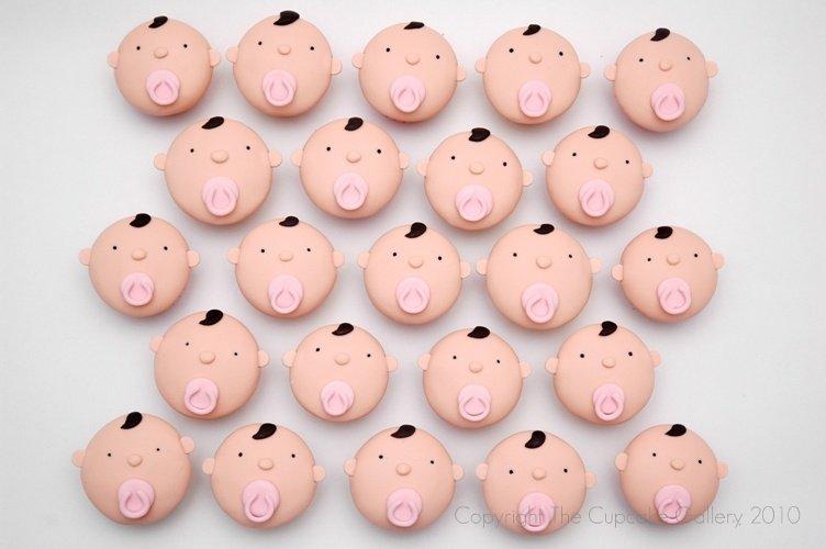 Mini babyface cupcakes
